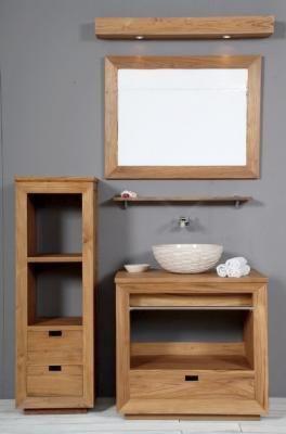 Meuble salle de bain hourtin 80t en teck archives for Meuble salle de bain petit prix