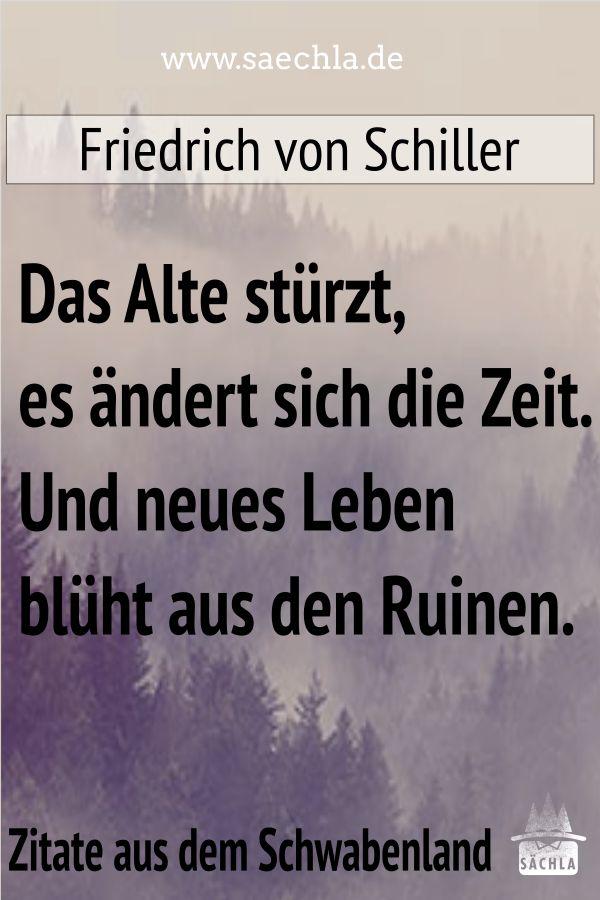 Lebensweisheiten Wurttemberg Schwabisch Weisheiten Nachdenken Friedrich Schwaben Schiller Spruche Schwoba Ruinen Spruch Strzt Zitat Ndertdas Alte