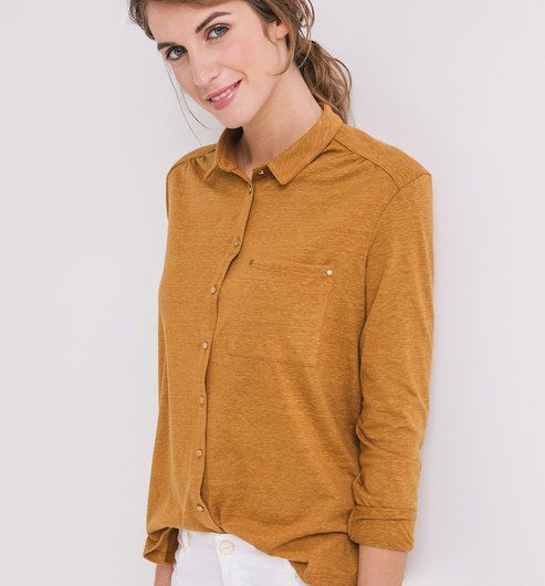 chemise jersey femme