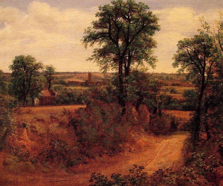 Fen Bridge Lane; Thomas Gainsborough; olio su tela; paesaggio; 1782; Yale Centre For British Art (Yale University), New Haven, USA.