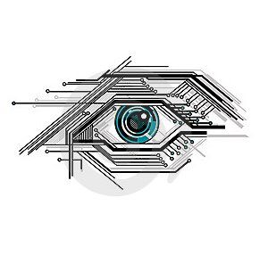 Cyber eye tattoo