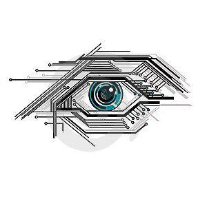 Cyber eye tattoo