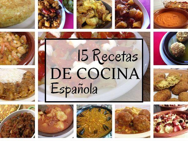 No te pierdas estas recetas de cocina española que a todo el mundo la gustan! Una selección de nuestras 15 recetas de cocina española