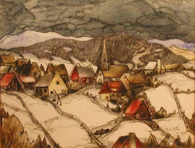 St-Urbain (1942) - Marc-Aurèle Fortin