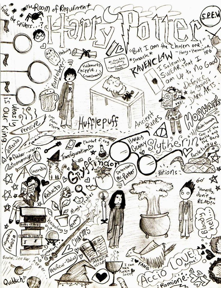 Harry Potter Doodle Page by Halfway-Anna.deviantart.com on @DeviantArt