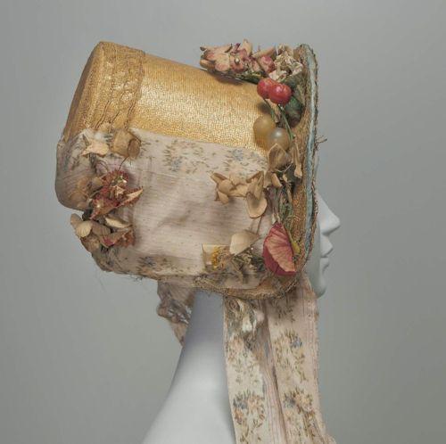 Hat ca. 1820 via The Museum of Fine Arts, Boston