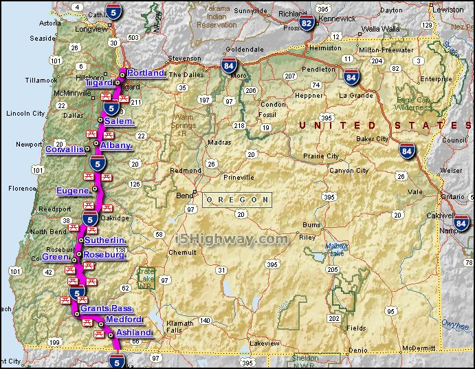 Best Interstate Highway Map Ideas On Pinterest Road Trips - State map of us interstate 5