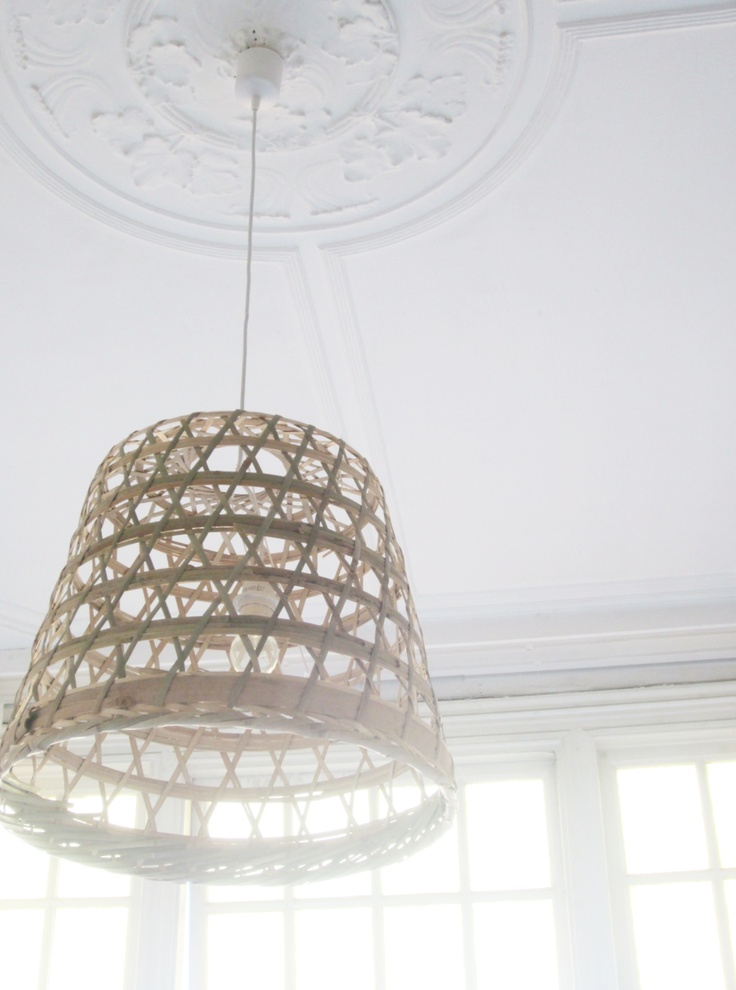 #IKEAcatalogus make yourself a lamp: with a basket (GADDIS) from IKEA and a fitting: DONE ★