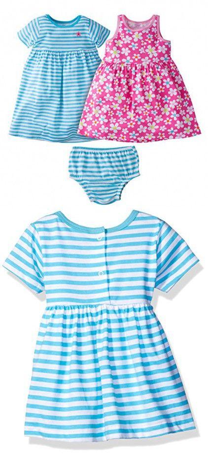 165f32e4532d Gerber Baby Girls  3 Piece Dress Set