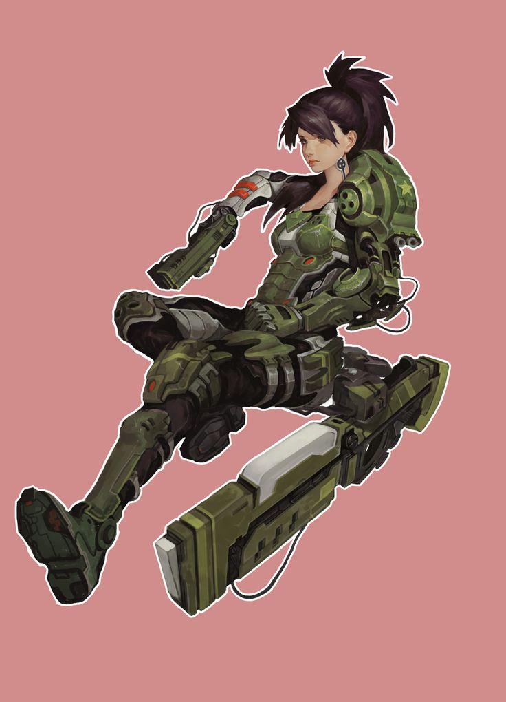 Character Design Pinup Art : ¥ 养 油菜 on artstation at https