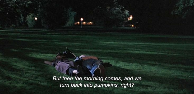 "— Before Sunrise (1995)""But then the morning comes, and we turn back into pumpkins, right?"""