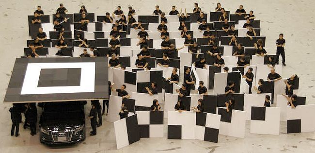 Largest QR Code in the world under construction
