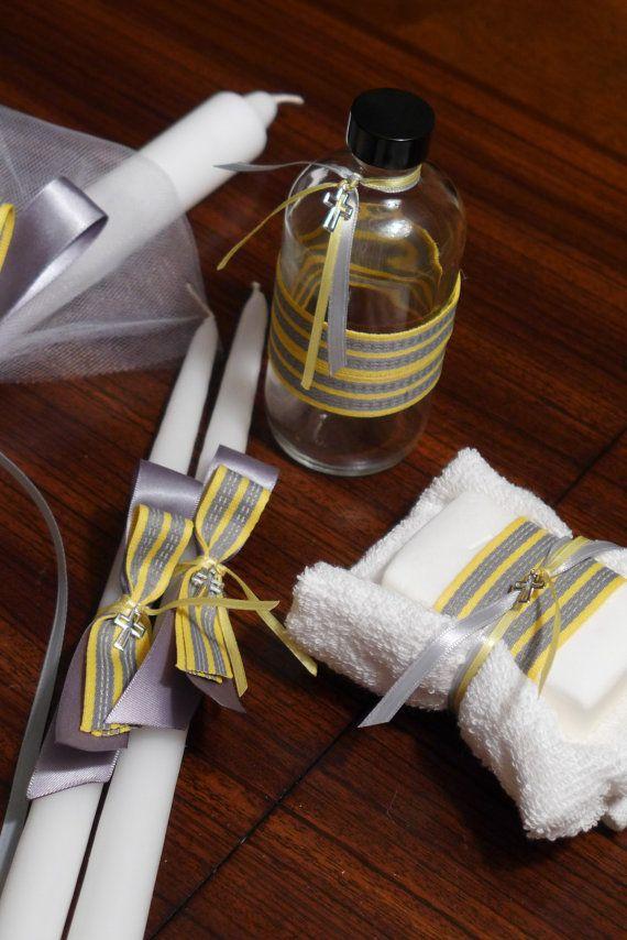 Modern Bow Lambada Set for Greek Orthodox Baptism