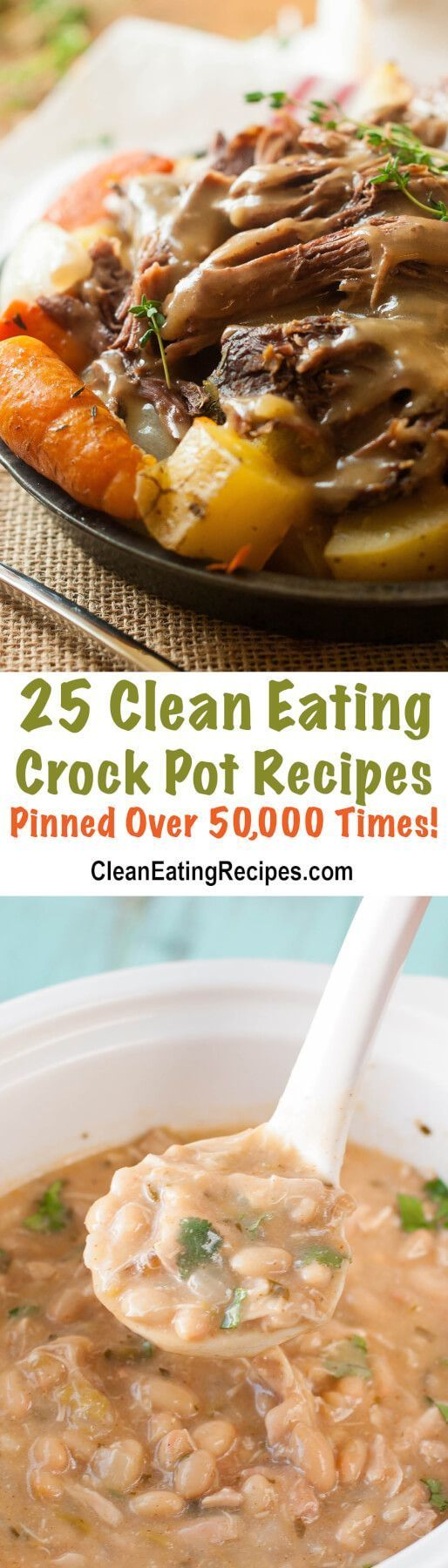 Each of these Clean Eating crock pot recipes has been pinned at least 50,000 times. I want to try them all!