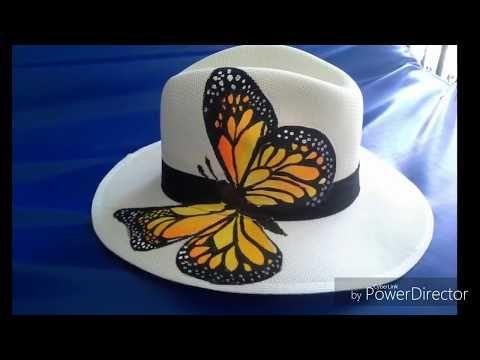 Que Sellador utiliza para sombreros pintados a mano - YouTube