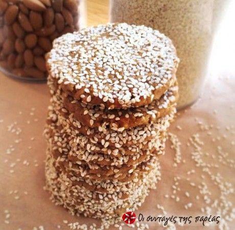 Μπισκότα με ταχίνι, σουσάμι και μέλι