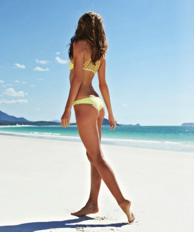 Gold Lame Old Fashion Bathing Suit