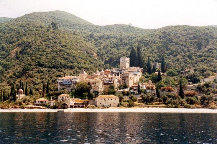 Monastero di Dochiariou, costa occidentale del Monte Athos, Grecia