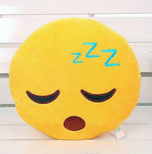 awesome Sleeping Face Emoji Pillow