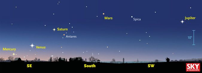 For the first time in more than a decade, Mercury, Venus, Mars, Saturn and Jupiter will be simultaneously visible to the naked eye.