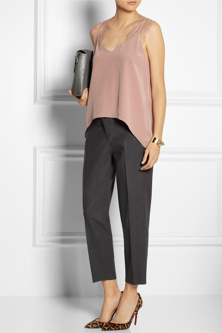 Mason by Michelle Mason|Lace and washed-silk camisole|NET-A-PORTER.COM