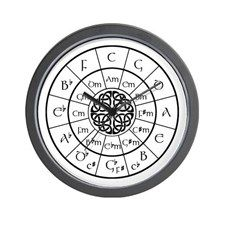 Celtic-blk Circle of 5ths Wall Clock for