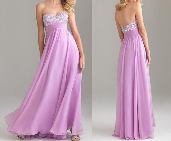 Purple dress bridesmaid light purple dress long purple by okbridal, $122.00