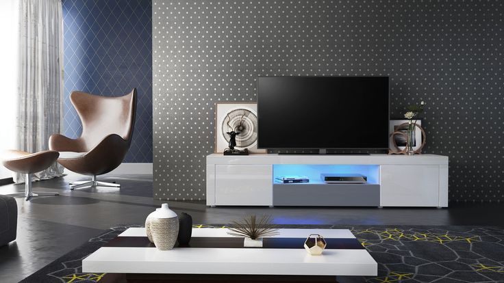 Das Santiago TV-Board fügt sich elegant in jeden Raum. Mit griffloser Push-to-Open-Technik und den Hochglanzfronten ein zeitloses Stück für jede moderne Einrichtung. Rundum Hochglanz von vladon.de