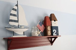 We already have a shelf with a sailboat on it. Now we just need the buoys!