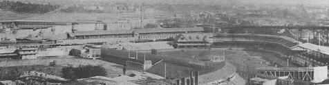 Polo Grounds (3) (left) and Manhattan Field (aka Polo Grounds 2) (right) c.1900