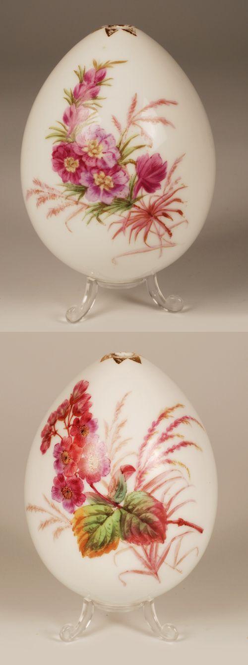 White Floral Easter Egg