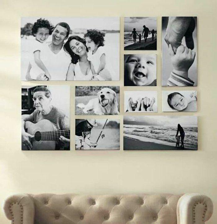 Wohnzimmer Wandgestaltung Mit Schwarz Weissen Bildern