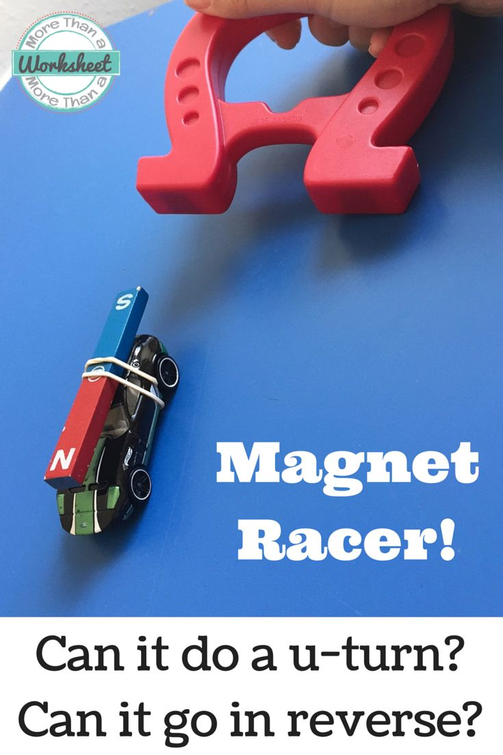 Magnet Racer: Students use their knowledge of magnets to power a car without touching it! Then test it (Can it go uphill?) And race it! Math connections and a project rubric also included. Fun and hands on science lesson! More Than a Worksheet $ #morethanaworksheet #handsonscience #stemactivities #tpt