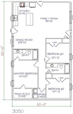 Ranch home plans 24x50 popular house plans and design ideas for 16 x 50 floor plans