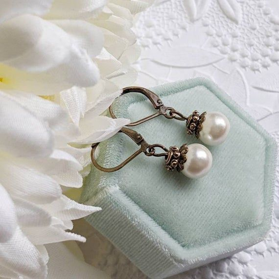 Ivory Pearl Earrings For Vintage Inspired Wedding Jewelry Bridal