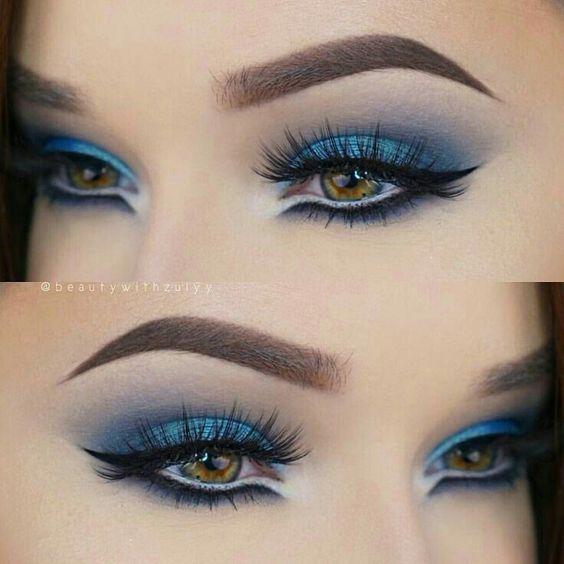 Para la noche puedes usar este tipo de maquillaje. #makeup #maquillaje #moda #mu…