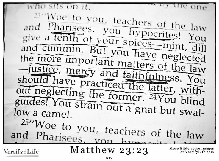 Matthew 23:23 - Justic, Mercy and Faithfulness! Don't be a Pharisee!
