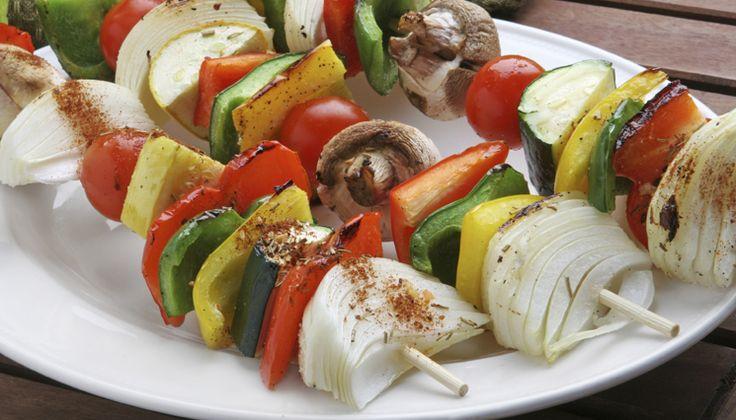 Spiedini vegetariani con salsa al profumo di zenzero #ricetta