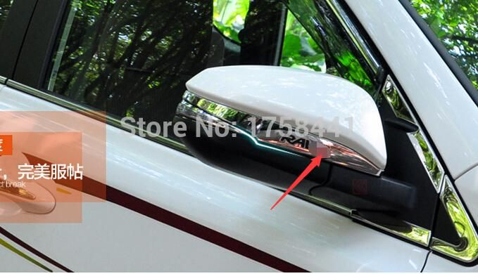 ABS ! Chrome Side Door Mirrors Rearview Stripe Cover 2 pcs For TOYOTA RAV4 2013 2014 #Affiliate