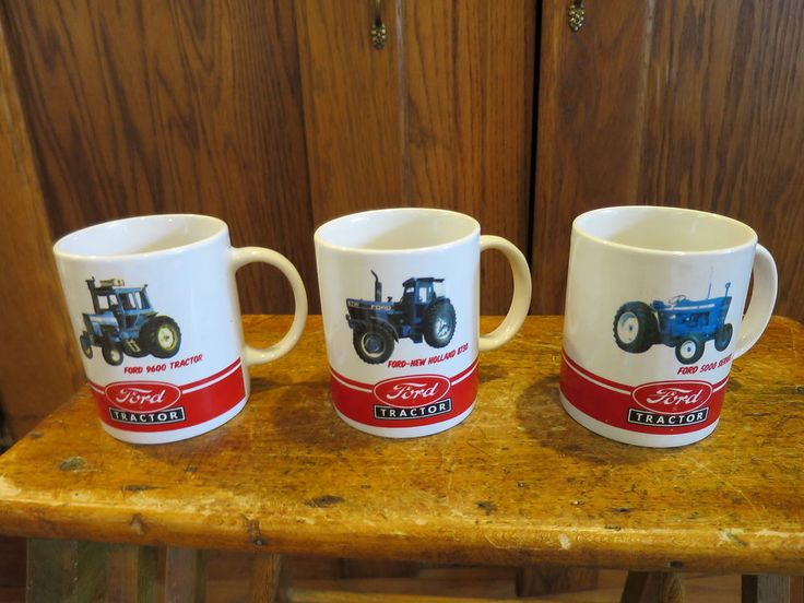 Ford Motor Company Tractors 3 Mugs Officially Licensed Products #FordMotorCompany