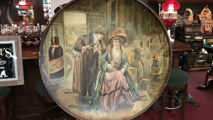Early 1900's SCHLITZ Beer Litho Ad by The Mantiques Network