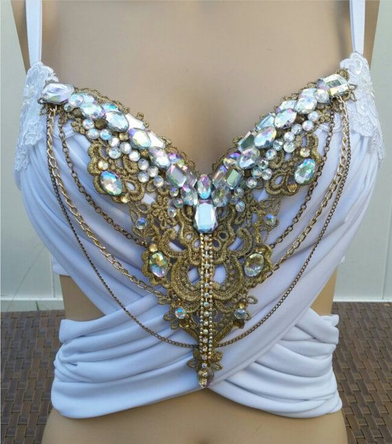 Blanco y oro y Glam diseño personalizado por cRaveCreationsPLUR