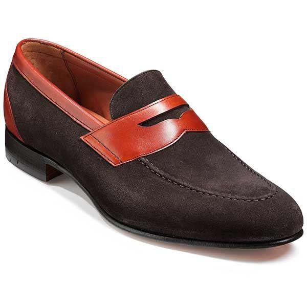 Barker Shoes – Dodmoor Penny Loafer – Bitter Choc Suede