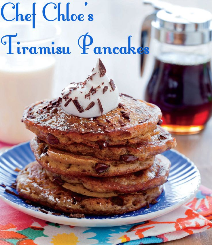 Chef Chloe's Tiramisù Pancakes- featured on our Easy #Easter Brunch Menu! (vegan)