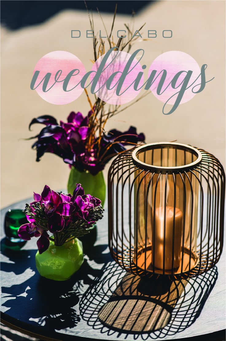 Modern wedding centerpiece idea! Get a special touch of Cabo in your wedding décor.