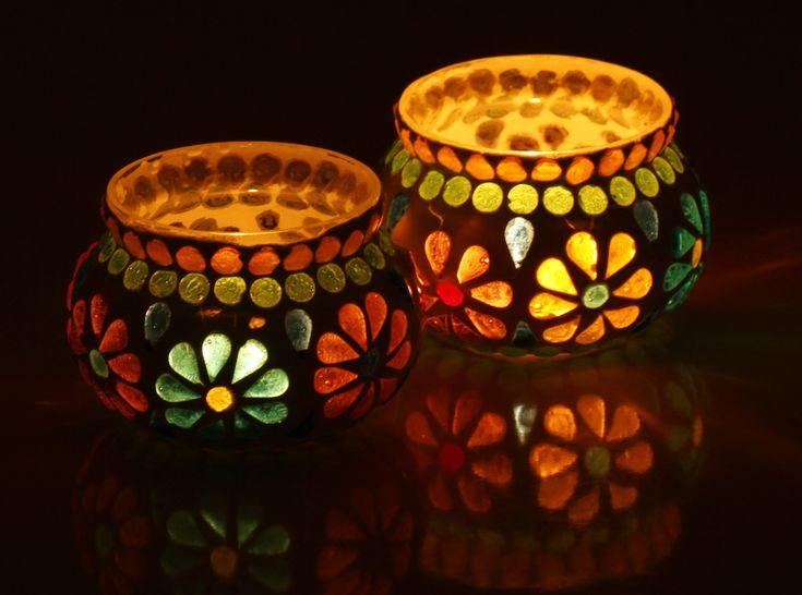 Heartfelt Gratitude - #Buy #Wholesale #Handmade Set of 2 #Glass #Mosaic…