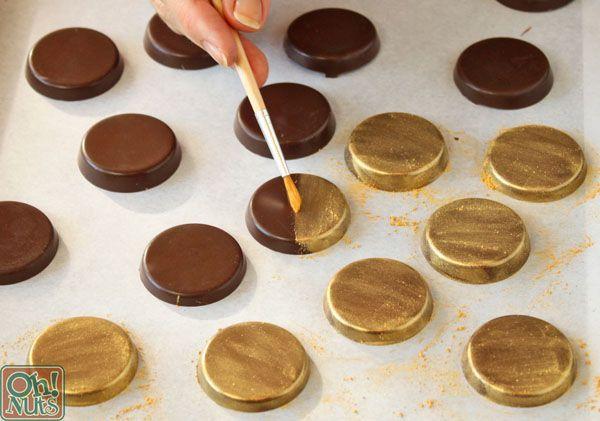 Gold Chocolate Melts Homemade Hanukkah Gelt Ohnuts Com