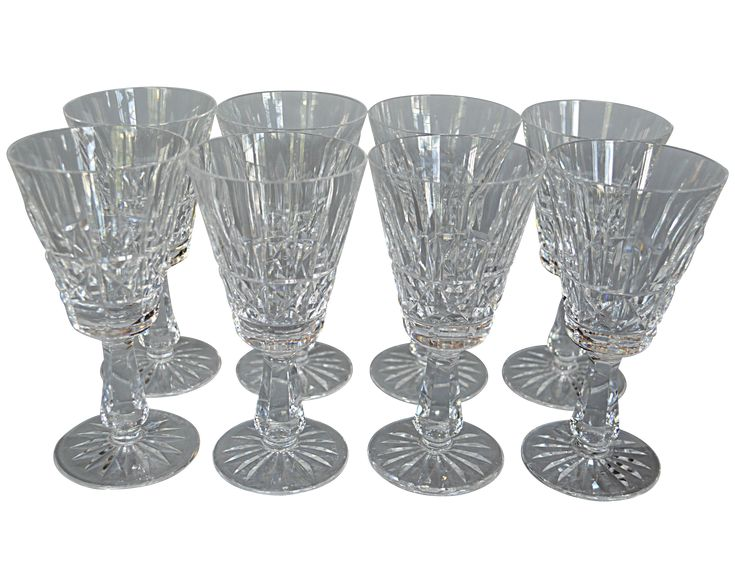 Waterford Wine Glasses - Set of 8 on Chairish.com
