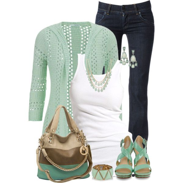 Minty Spring by maggie478 on Polyvore featuring polyvore fashion style maurices Soaked in Luxury Hudson Jeans Calvin Klein MOOD Pim + Larkin