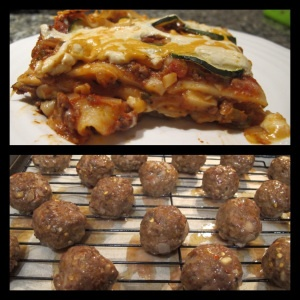 Gluten and dairy free lasagne & meatballs!